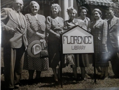 Florence Library, staff photo. c. 1950