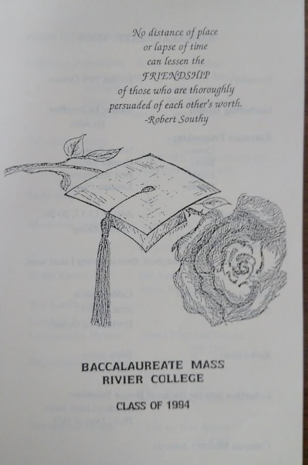Baccalaureate mass 1994