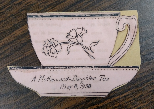 Mother-and-Daughter Tea Program, front side
