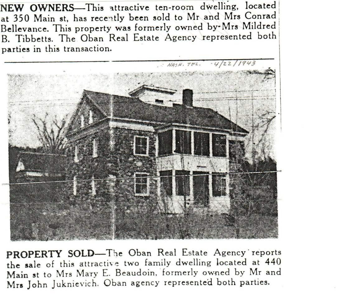 Sale of St. Joseph's 1943